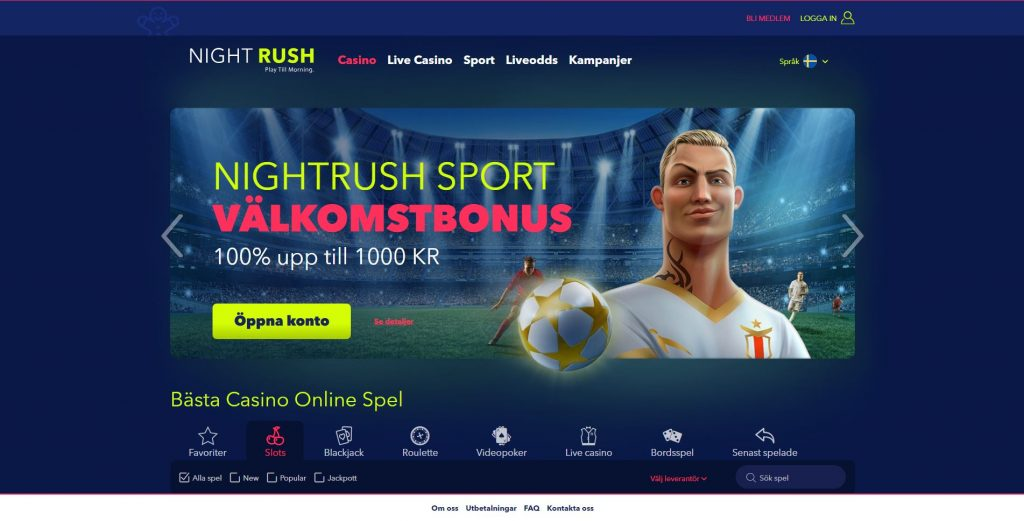 NightRush Casino Recension