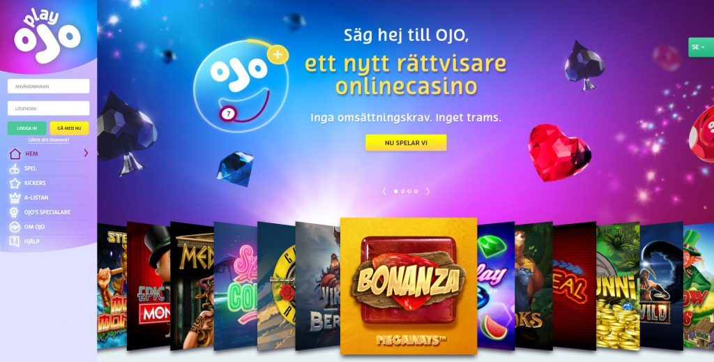 OJO Casino hemsida